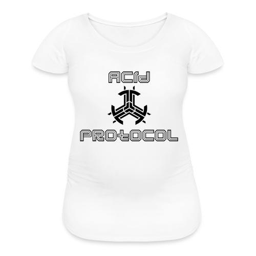 ACID PROTOCOL OFFICIAL LOGO BLACK - Women's Maternity T-Shirt