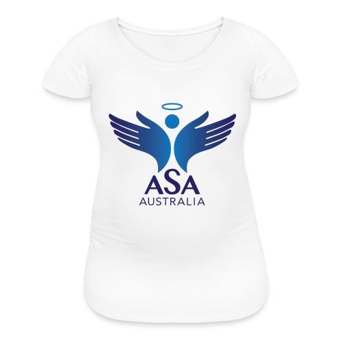3459 Angelman Logo AUSTRALIA FA CMYK - Women's Maternity T-Shirt