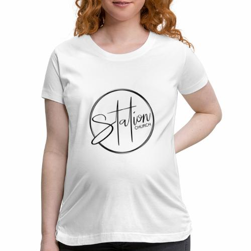 Black Logo - Women's Maternity T-Shirt