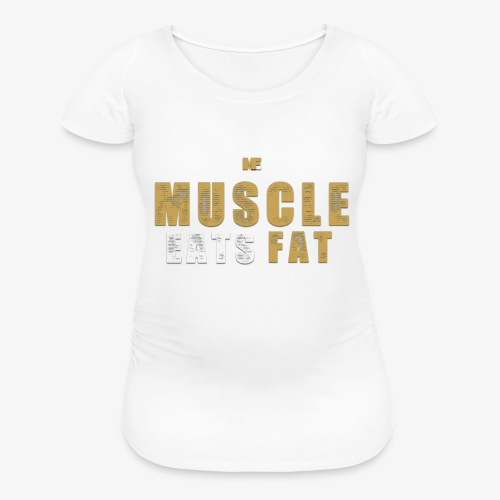 Muscle Eats Fat Tank Top (Saints Gold) - Women's Maternity T-Shirt