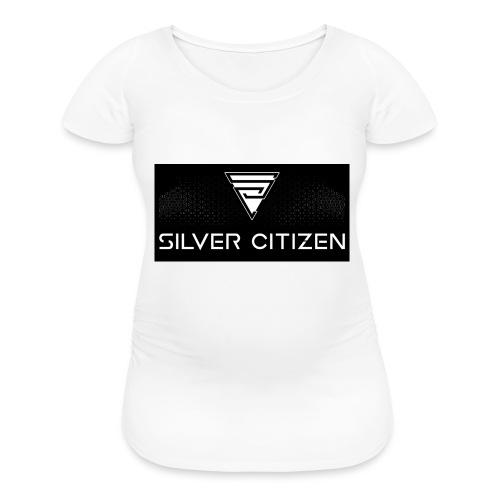 Silver Citizen Logo - Women's Maternity T-Shirt