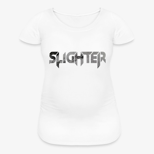 Slighter Line Glitch Logo - Women's Maternity T-Shirt