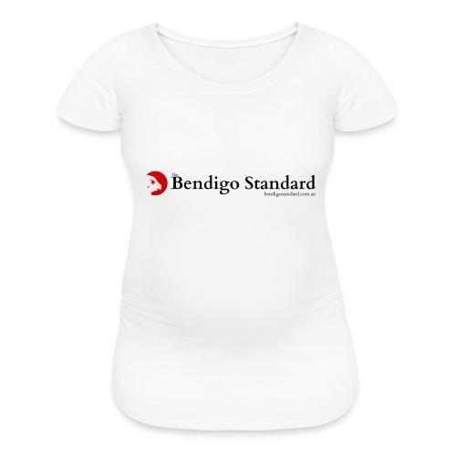 Bendigo Standard Logo - vertical - Women's Maternity T-Shirt