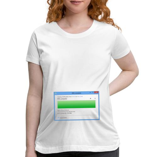 9 Months Pregnant (About to pop!) - Women's Maternity T-Shirt