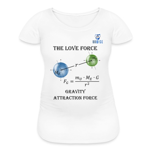 Newton Gravity MuMeG with UBWise logo - Women's Maternity T-Shirt