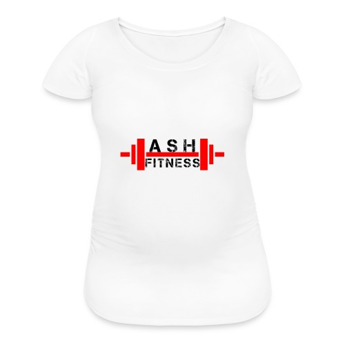 ASH FITNESS MUSCLE ACCESSORIES - Women's Maternity T-Shirt