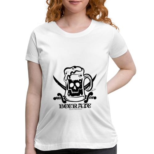 Beerate - black - Women's Maternity T-Shirt
