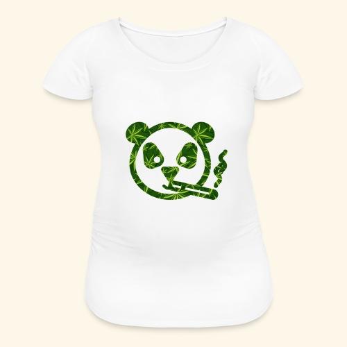 PANDA SMOKING - PANDAS STONER - CANNABISLEAF - Women's Maternity T-Shirt