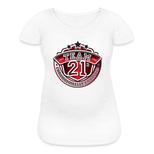 Team 21 - Chromosomally Enhanced (Red) - Women's Maternity T-Shirt