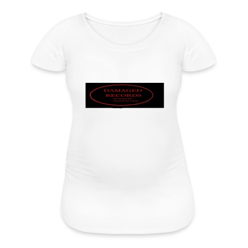 Damaged Records Black and Red Oval logo - Women's Maternity T-Shirt