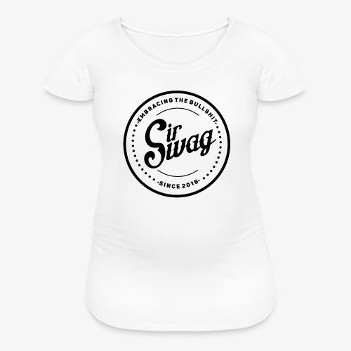 Vintage black and white - Women's Maternity T-Shirt