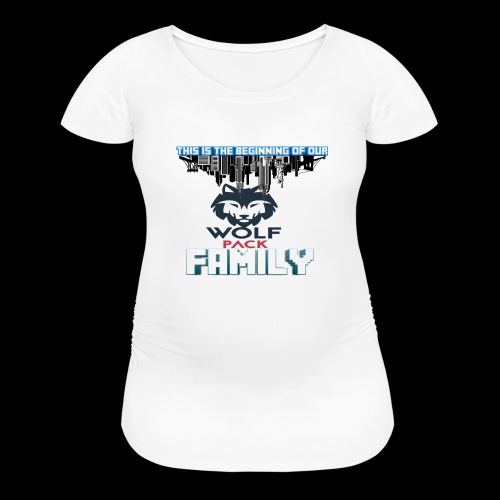 We Are Linked As One Big WolfPack Family - Women's Maternity T-Shirt