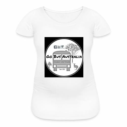 Go Bus Australia - Large Black Logo Range - Women's Maternity T-Shirt