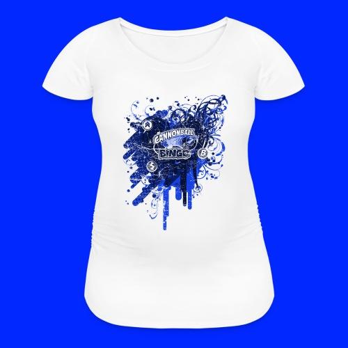 Vintage Cannonball Bingo Drip Blue - Women's Maternity T-Shirt