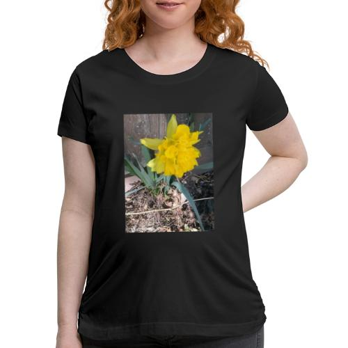 YELLOWFLOWER by S.J.Photography - Women's Maternity T-Shirt