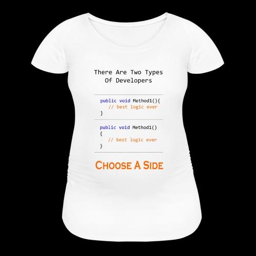 Code Styling Preference Shirt - Women's Maternity T-Shirt