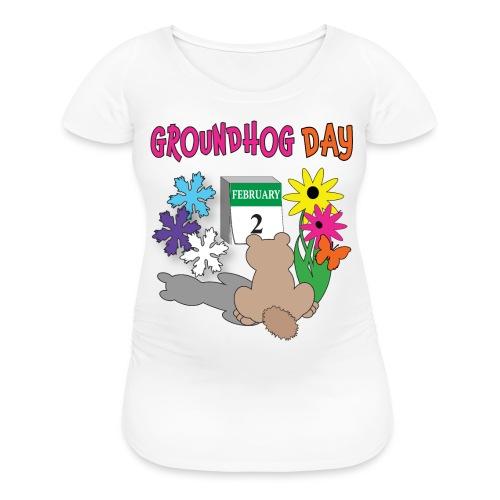 Groundhog Day Dilemma - Women's Maternity T-Shirt