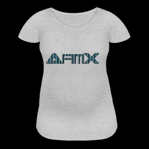 AfimX Logo Design - Women's Maternity T-Shirt
