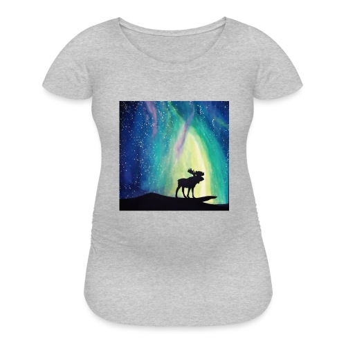 Night Moose - Women's Maternity T-Shirt