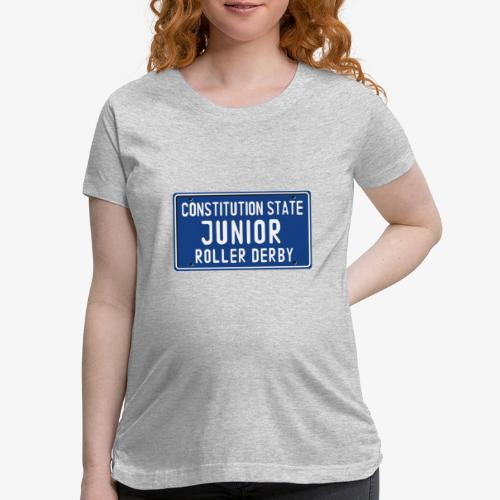 Constitution State Junior Roller Derby - Women's Maternity T-Shirt