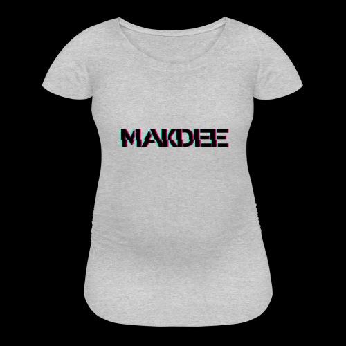 MakDee Glitch Logo - Women's Maternity T-Shirt