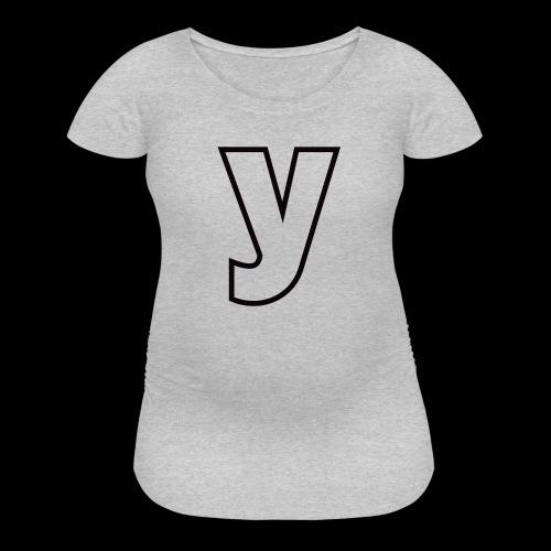 Logo Black-Line - Women's Maternity T-Shirt