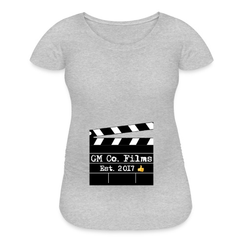G M co Films logo + Subscribe combo - Women's Maternity T-Shirt