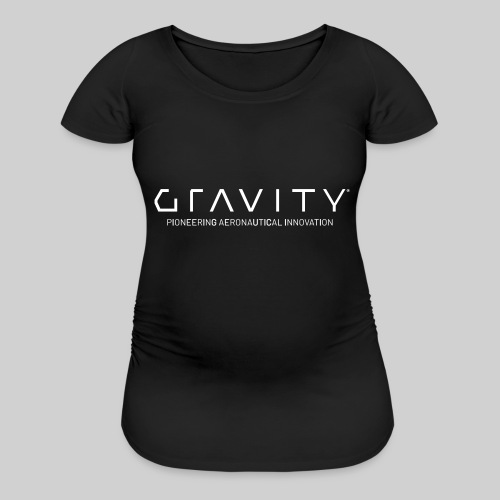 Gravity Logo with Tagline - Women's Maternity T-Shirt