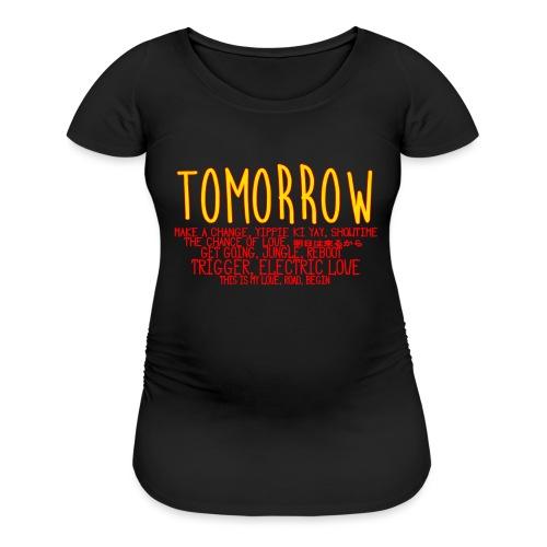 Tomorrow Album Design - Women's Maternity T-Shirt