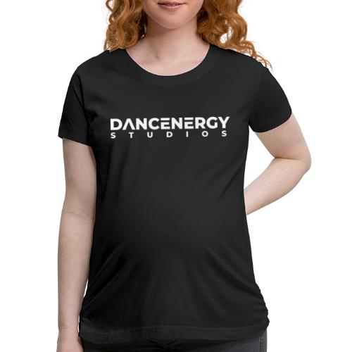 logo dancenergy 2019 white just text - Women's Maternity T-Shirt