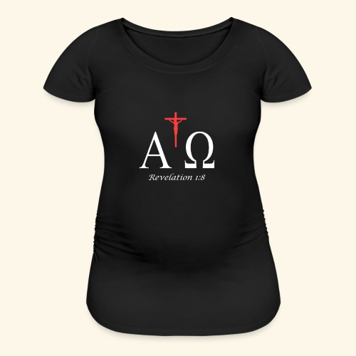 lpha and omega - Women's Maternity T-Shirt