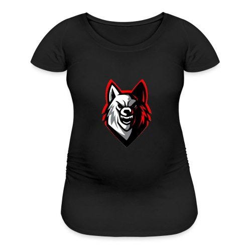 ECHO™Wolf Mascot Logo Hoodie Black - Women's Maternity T-Shirt