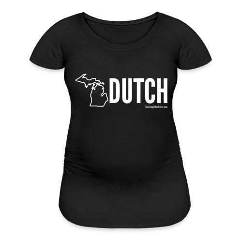 Michigan Dutch (white) - Women's Maternity T-Shirt