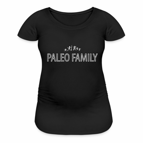 Paleo Family 3 Kids - Women's Maternity T-Shirt