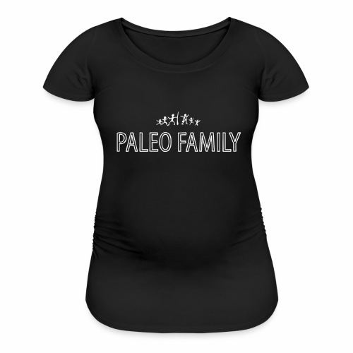 Paleo Family - 4 Kids - Women's Maternity T-Shirt