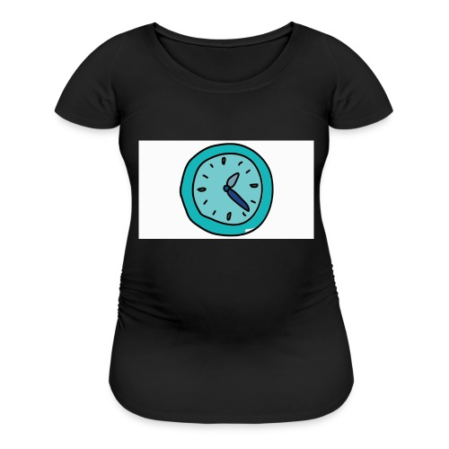 When the clock strikes: Caps, Men's hoodie and wom - Women's Maternity T-Shirt