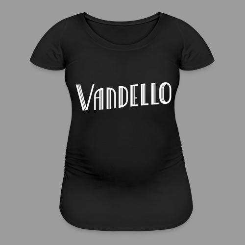 Vandello Logo-White - Women's Maternity T-Shirt