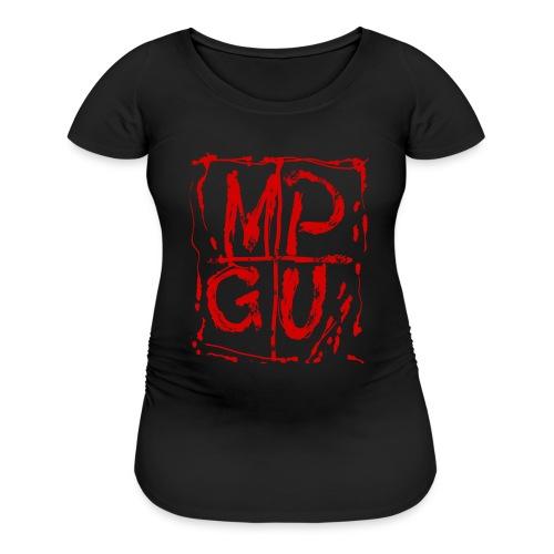 MPGU RED STROKE - Women's Maternity T-Shirt