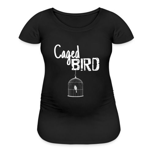 Caged Bird Abstract Design - Women's Maternity T-Shirt