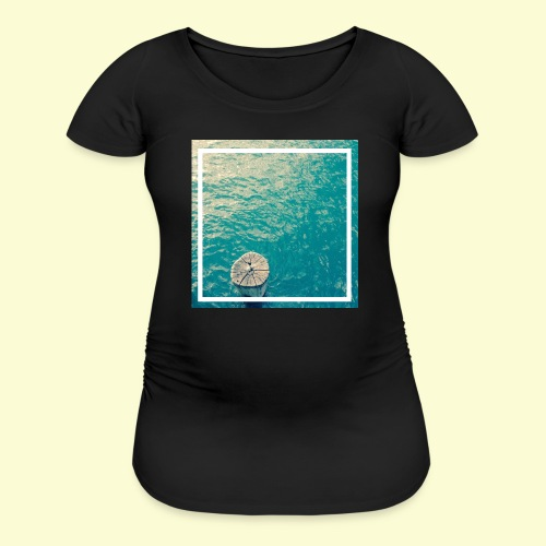 Framed ocean print - Women's Maternity T-Shirt