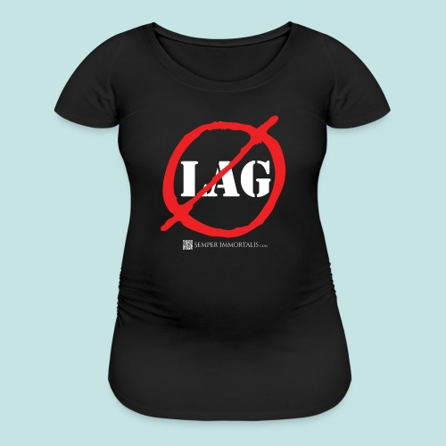 No Lag (white) - Women's Maternity T-Shirt
