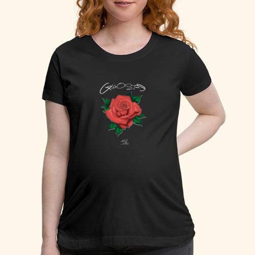 Rose LOGO - Women's Maternity T-Shirt