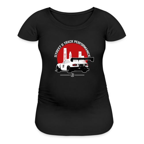 BEAVIS RACECARLOGO BLACK - Women's Maternity T-Shirt