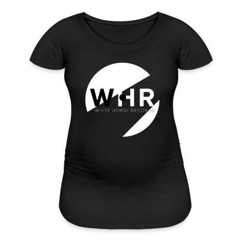 White Horse Records Logo - Black - Women's Maternity T-Shirt