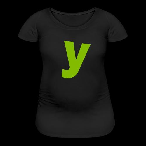 logo solid green - Women's Maternity T-Shirt
