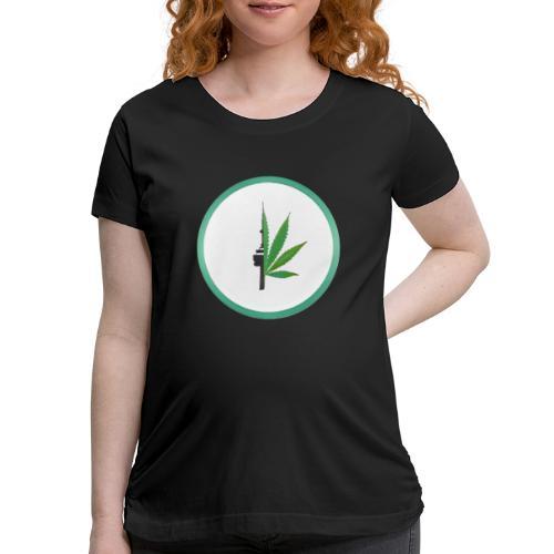 iCannGreen Logo - Women's Maternity T-Shirt