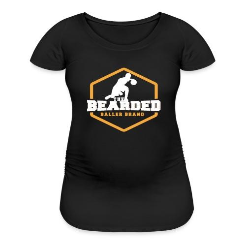 The Bearded Baller Brand White and Gold - Women's Maternity T-Shirt