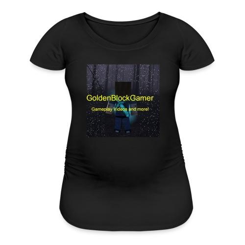 GoldenBlockGamer Tshirt - Women's Maternity T-Shirt