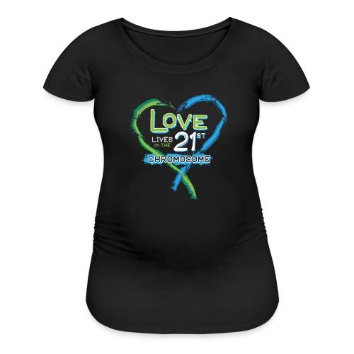 Down Syndrome Love (Blue/White) - Women's Maternity T-Shirt