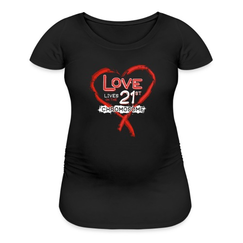 Down Syndrome Love (Red/White) - Women's Maternity T-Shirt